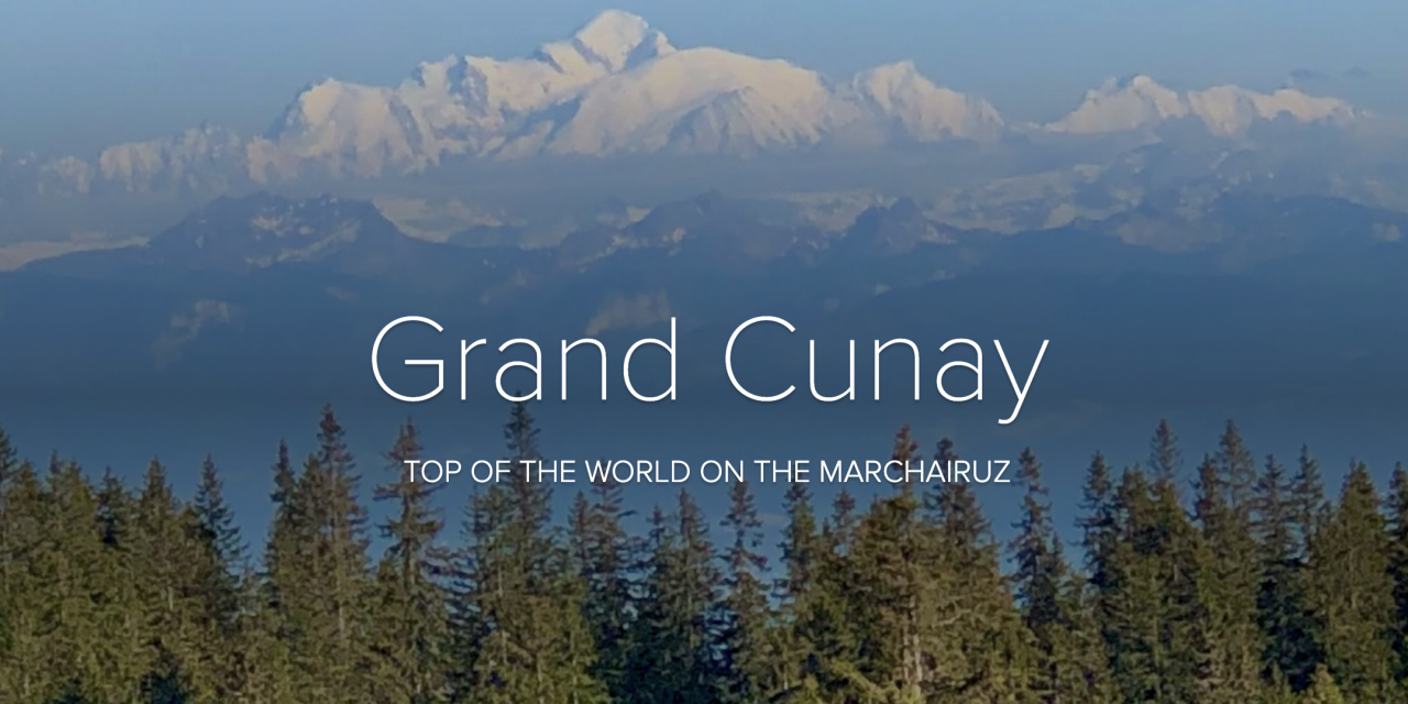 From the Col du Marchairuz to the Top of the Grand Cunay